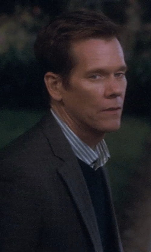 Kevin Bacon with Stone Rose Trim Fit Stripe Egyptian Cotton Sport Shirt in Crazy, Stupid, Love.