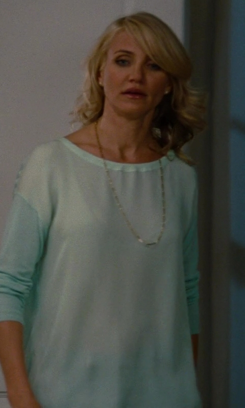Cameron Diaz with Vince Superwash Crew Neck Sweater in The Other Woman