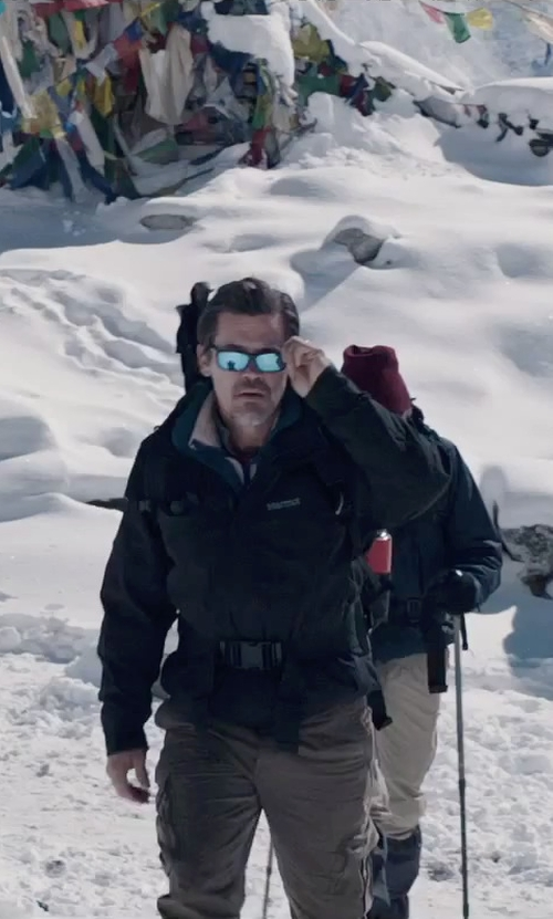 Josh Brolin with Marmot Men's Great Scott Shell Jacket in Everest