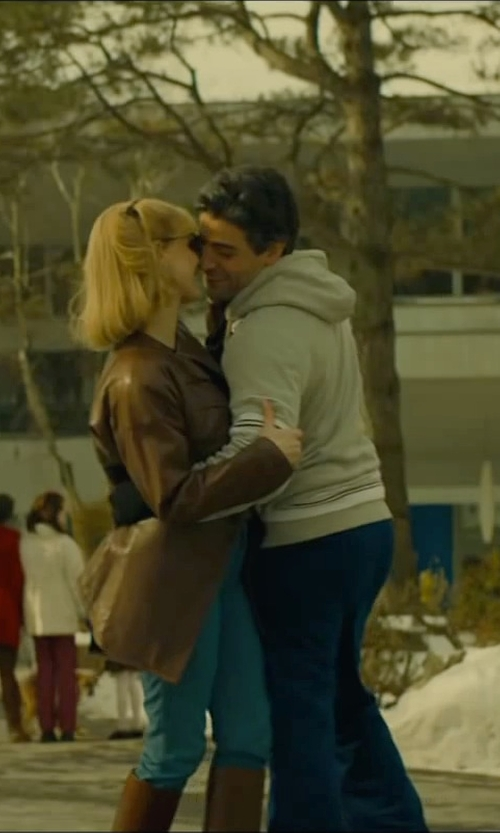 Oscar Isaac with Ralph Lauren Lightweight Fleece Hoodie in A Most Violent Year