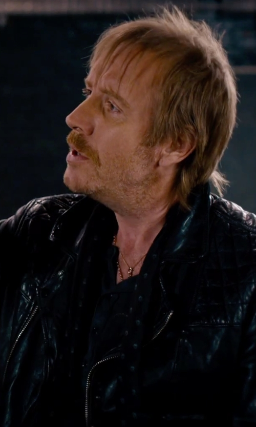 Rhys Ifans with Organic Organic Pima Henley Shirt in She's Funny That Way