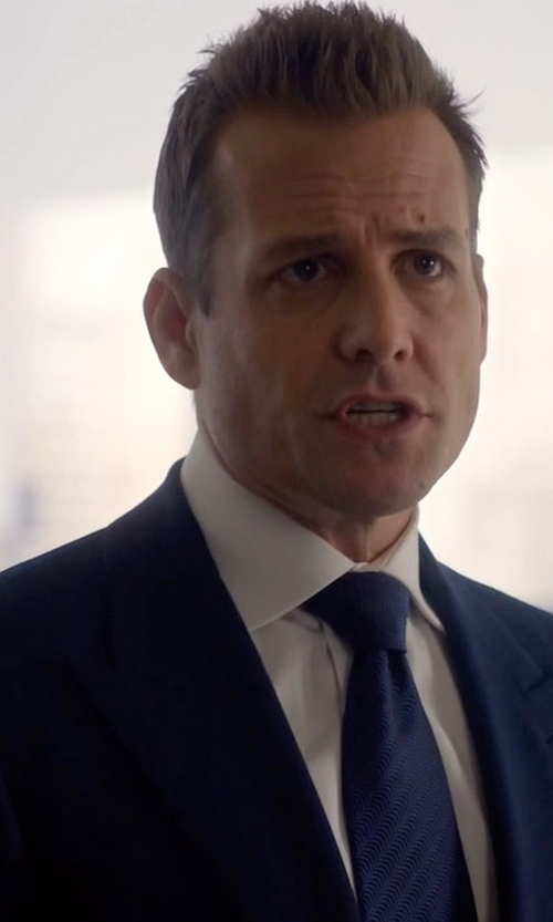 Gabriel Macht with Tom Ford O'Connor Base Plain-Weave Sharkskin Two-Piece Suit in Suits