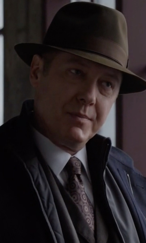 James Spader with Bugatchi Medallion Silk Tie in The Blacklist
