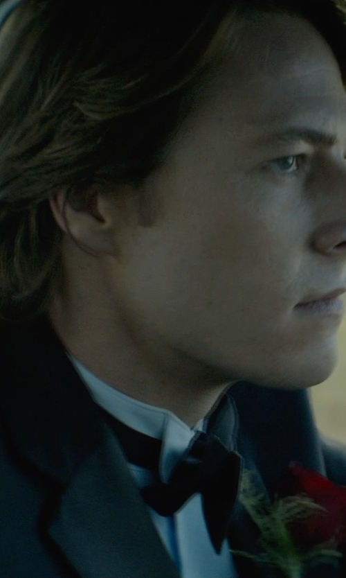 Luke Bracey with Neiman Marcus Pre-Tied Satin Bow Tie in The Best of Me