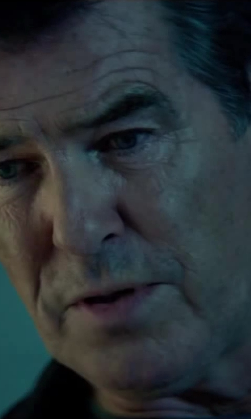Pierce Brosnan with Filippa K Pocket T Blue T-Shirt in The November Man