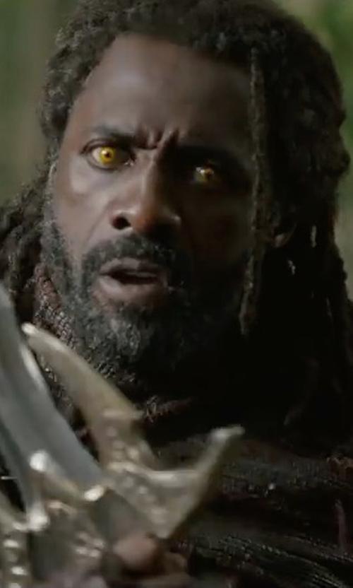 Idris Elba with Mayes C. Rubeo (Costume Designer) Custom Made Heimdall Costume in Thor: Ragnarok