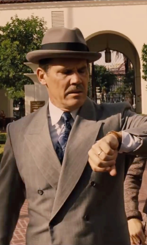 Josh Brolin with Tonello Double Breasted Suit in Hail, Caesar!