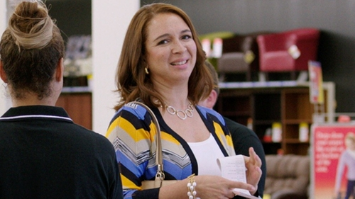 Maya Rudolph with Dolce Giavonna Gemstone Half-Hoop Earrings in Sisters