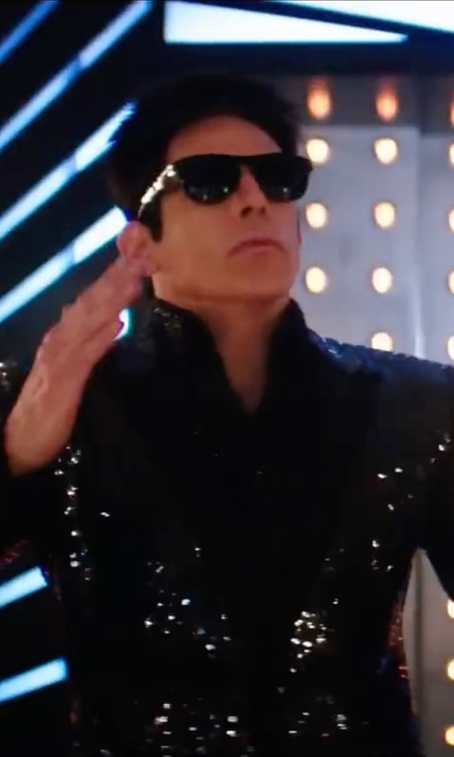 Ben Stiller with Saint Laurent Sequin Jacket in Zoolander 2