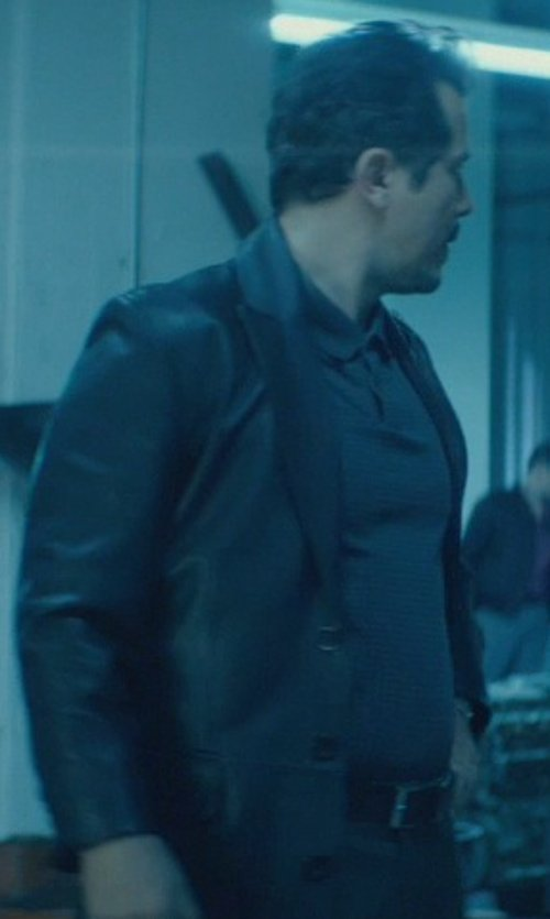 John Leguizamo with Michael Kors Men's Leather Belt in John Wick