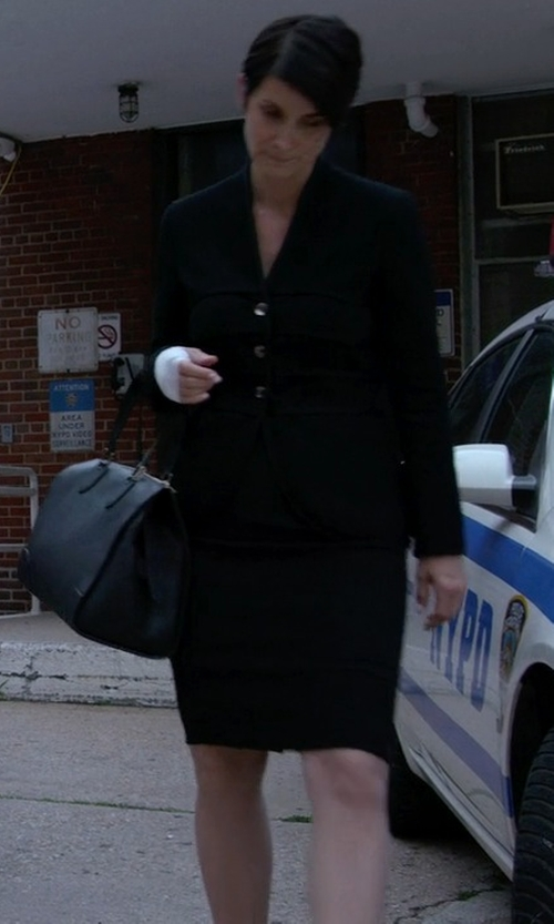 Carrie-Anne Moss with Lafayette 148 New York Marie Jacket in Jessica Jones