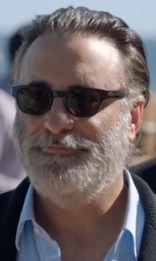 Andy Garcia with Tom Ford Olivier Plastic Sunglasses in Ballers