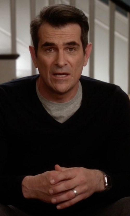 Ty Burrell with Apple Stainless Steel Case with Link Bracelet Watch in Modern Family