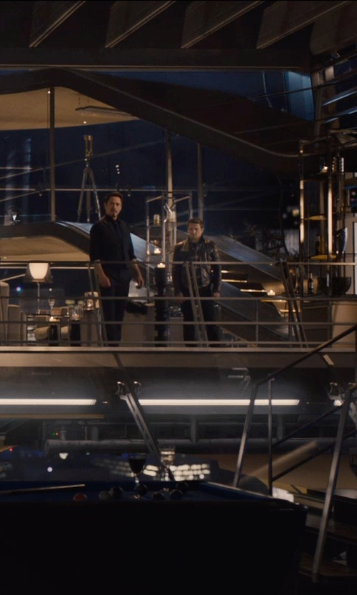 Jeremy Renner with J Brand Stretch Skinny Chino Pants in Avengers: Age of Ultron