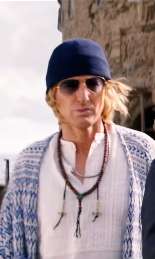 Owen Wilson with Ray-Ban Aviator Sunglasses in Zoolander 2
