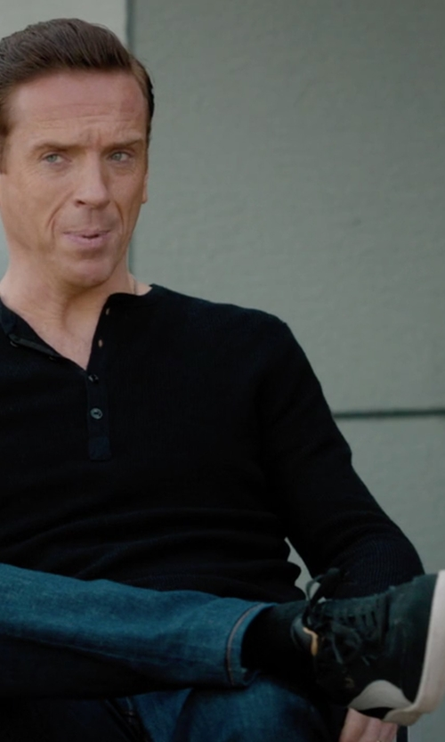 Damian Lewis with Puma Liga Suede Sneakers in Billions