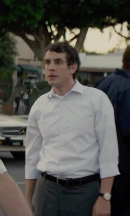 Tate Ellington with Geoffrey Beene Stitched Leather Dress Belt in Straight Outta Compton