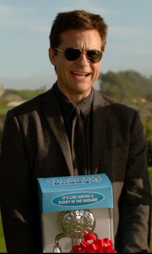 Jason Bateman with Egara Brown Skinny Corduroy Tie in Horrible Bosses 2