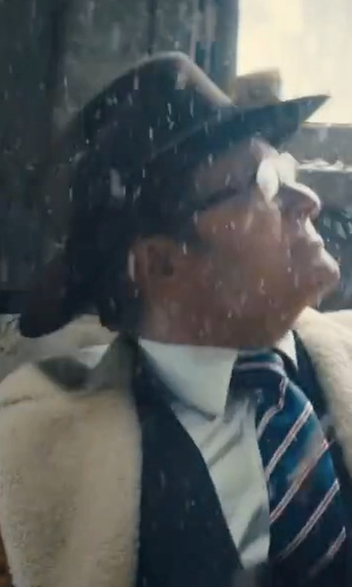 Colin Firth with Brixton Messer Fedora Hat in Kingsman: The Golden Circle