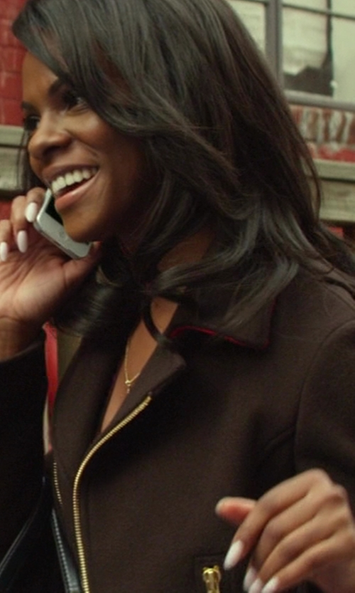 Tika Sumpter with Balizza Cashmere Blazer in Ride Along
