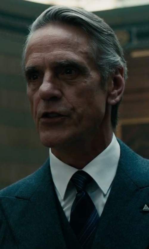 Jeremy Irons with Tom Ford Woven Printed Stripe Tie in Assassin's Creed