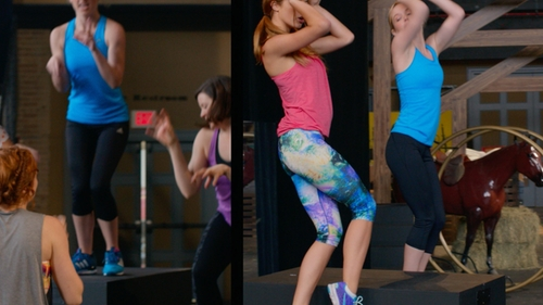 Alexis Knapp with Nike Pro Capri Pants in Pitch Perfect 2