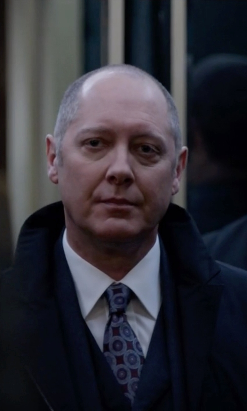 James Spader with Ermenegildo Zegna Circle-Medallion Printed Silk Tie in The Blacklist