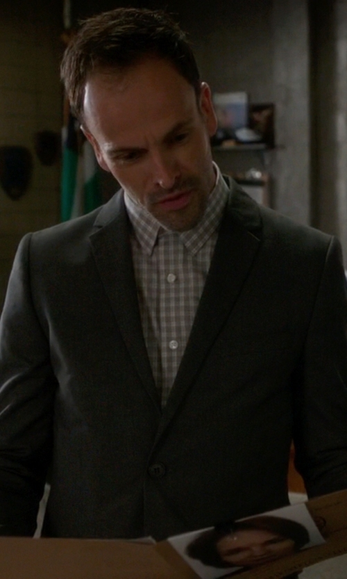 Jonny Lee Miller with Cego Custom Made Split Check Shirt in Elementary