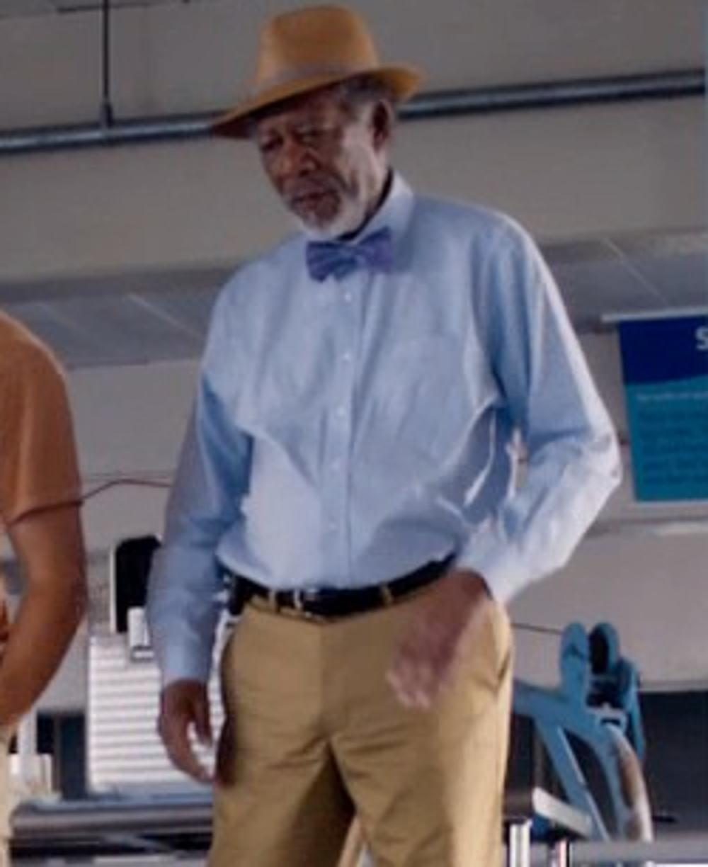 Morgan Freeman with Cause and Effect Leather Belt in Dolphin Tale 2