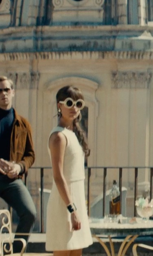 Alicia Vikander with Schumacher Short Dress in The Man from U.N.C.L.E.