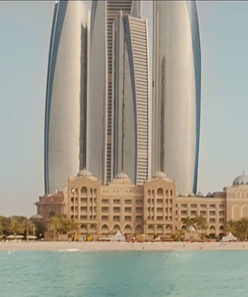 Unknown Actor with Etihad Towers Abu Dhabi, United Arab Emirates in Furious 7