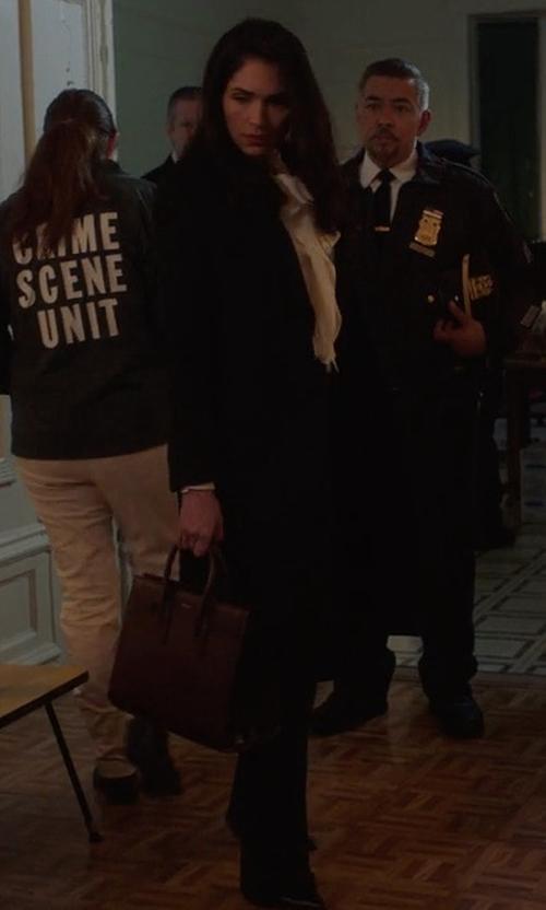 Lela Loren with Boss Tulea Bootcut Stretch Wool Suit Trousers in Power