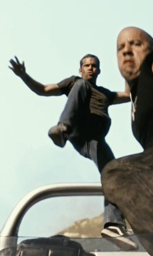 Paul Walker with Vans Old Skool Lite Sneakers in Fast Five