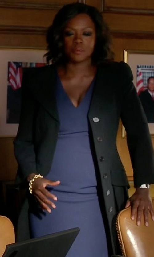 Viola Davis with Line & Dot Cecil Button Coat in How To Get Away With Murder