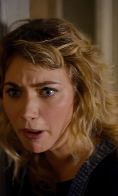Imogen Poots with Bop Basics Crew Neck Tee in She's Funny That Way