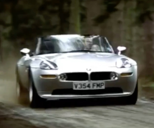 Pierce Brosnan with BMW 1999 Z8 E52 Convertible Car in The World is Not Enough