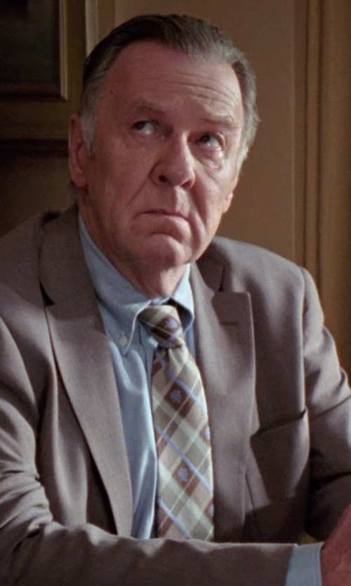 Tom Wilkinson with Countess Mara Suiting Plaid Tie in Unfinished Business