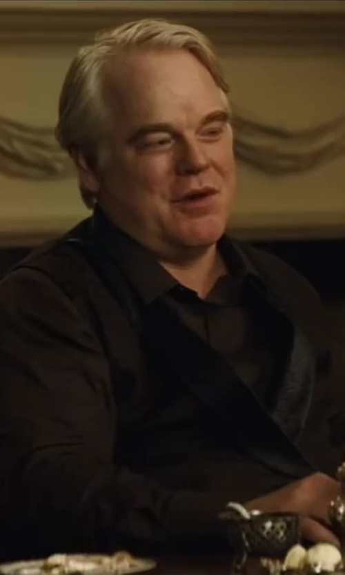 Philip Seymour Hoffman with Dolce & Gabbana Classic Waistcoat in The Hunger Games: Catching Fire