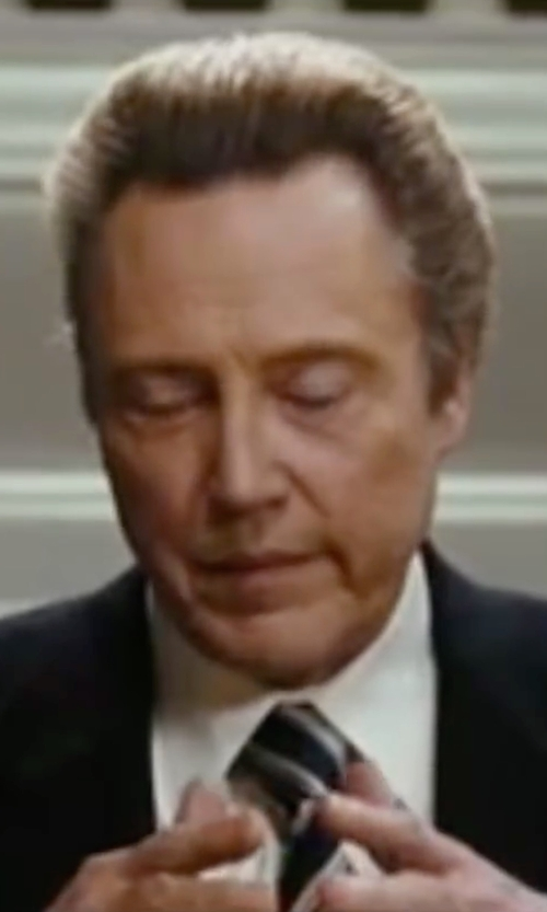 Christopher Walken with Ted Baker Speckled Striped Silk Tie in Wedding Crashers