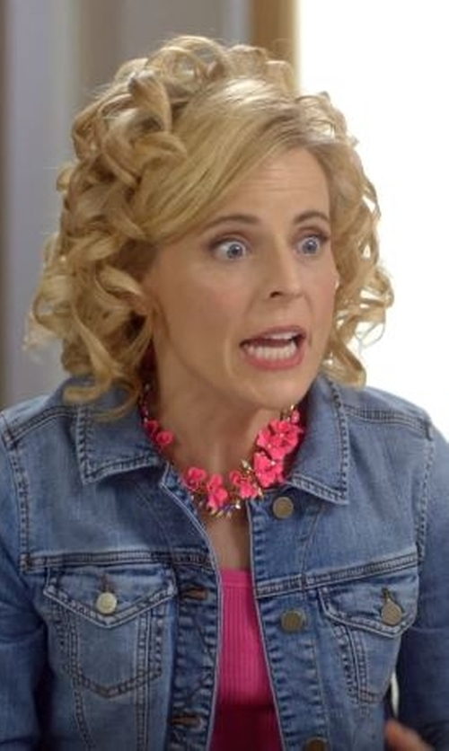 Maria Bamford with J.Crew Factory Crystal Floral Burst Necklace in Lady Dynamite