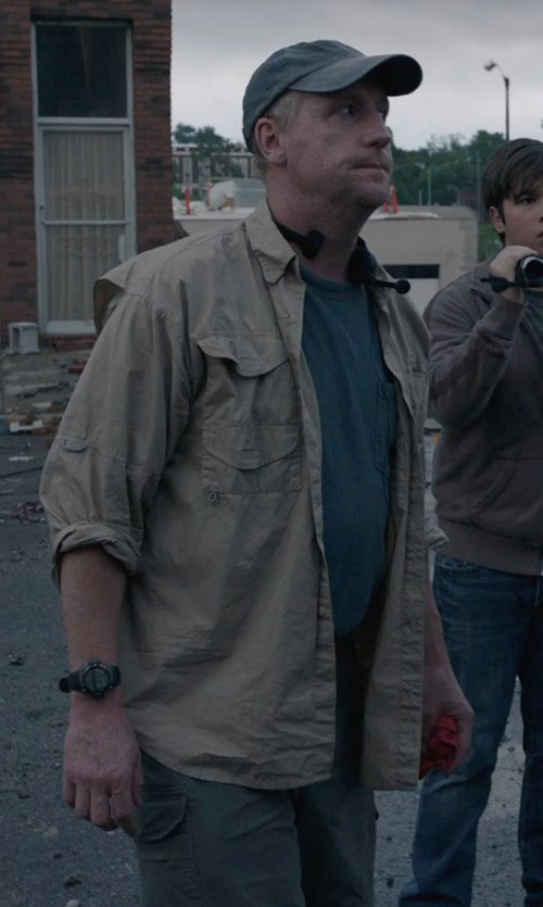 Matt Walsh with G-Shock 'X-Large' Digital Watch in Into the Storm