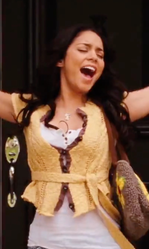 Vanessa Hudgens with Free People Tie Waist Cardigan in High School Musical 3: Senior Year