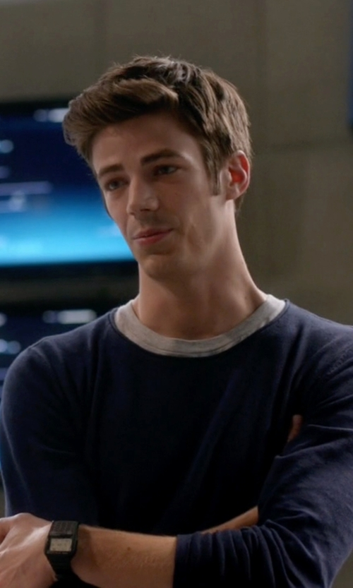 Grant Gustin with Casio Databank Digital Watch in The Flash