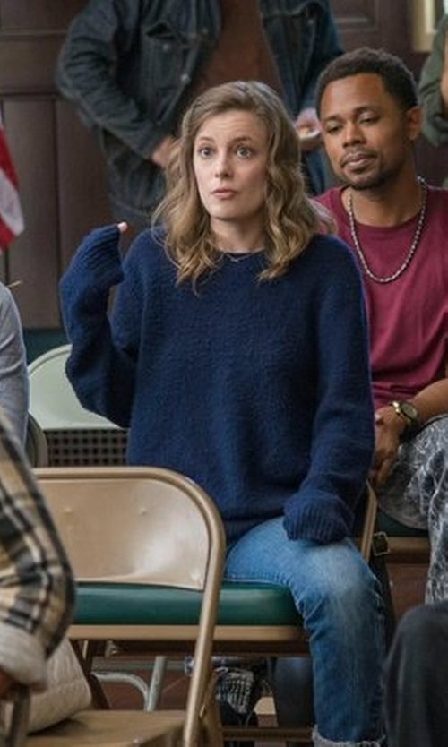 Gillian Jacobs with Alternative  Entrada Crew Neck Sweater in Love