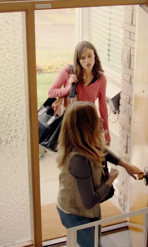 Keira Knightley with Furla Alissa Large Tote Bag in Laggies