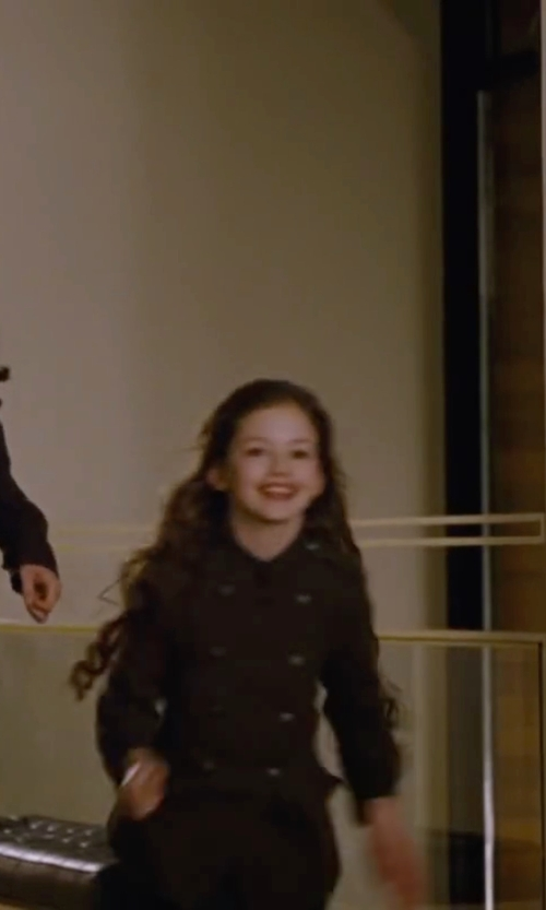 Mackenzie Foy with Zara Girl's Military Peacoat in The Twilight Saga: Breaking Dawn - Part 2