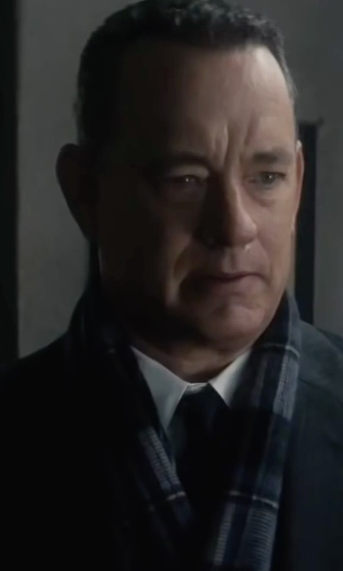 Tom Hanks with Dolce & Gabbana Contrast Print Tie in Bridge of Spies