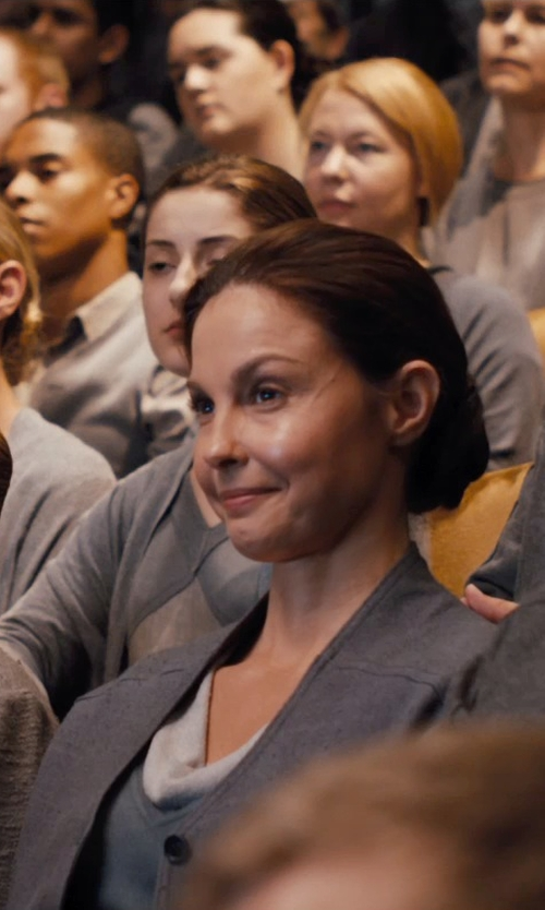 Ashley Judd with Carlo Poggioli (Costume Designer) Custom Made Natalie Prior Abnegation Cardigan in Divergent
