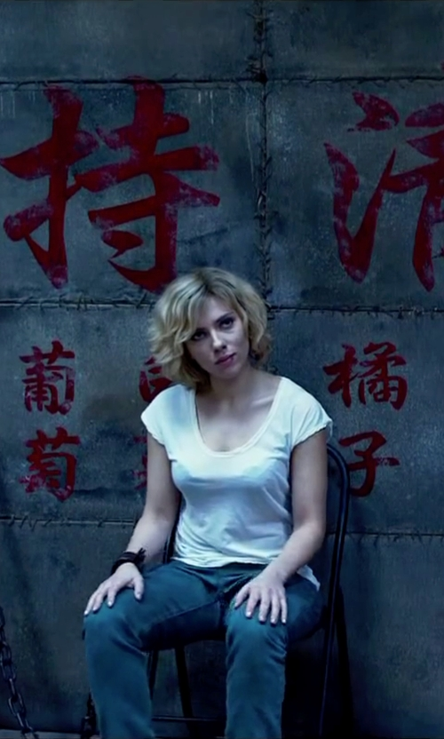 Scarlett Johansson with Armani Jeans Casual Pants in Lucy