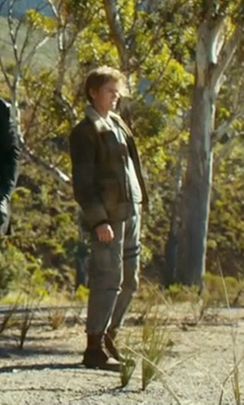 Thomas Brodie-Sangster with G-Star RAW Rovic Zip 3D Tapered Pants in Maze Runner: The Death Cure